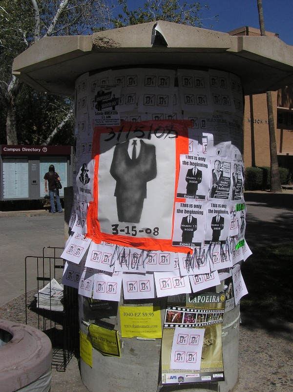 Anonymous flyers at Arizona State University