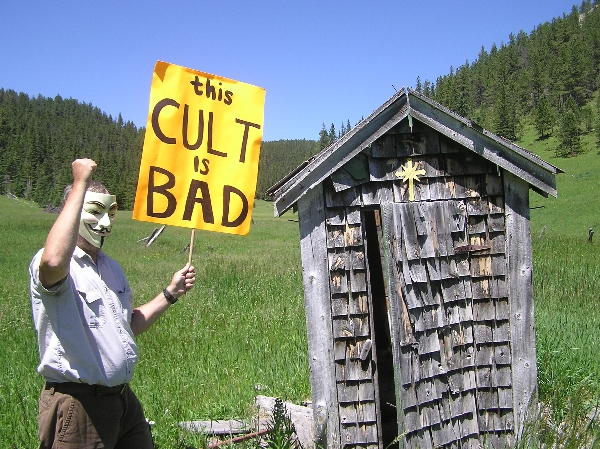 Alleged protest against Scientology in the Black Hills of South Dakota